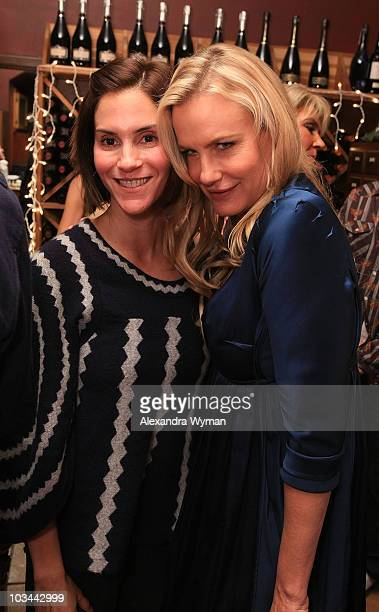 Jami Gertz and Daryl Hannah at Liebrary Game Night hosted by Daryl Hannah and Hilary Shepard held at Il Sole on November 17 2009 in West Hollywood...