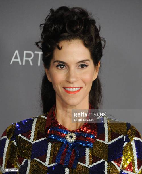 Jami Gertz arrives at the 2017 LACMA Art + Film Gala honoring Mark Bradford and George Lucas at LACMA on November 4, 2017 in Los Angeles, California.