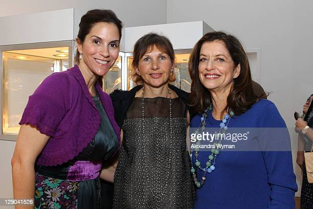 Jami Gertz, Debra Black and Alison Ressler at Ladies' Luncheon hosted by Debra Black to Preview The Elizabeth Taylor Collection from CHRISTIE'S held...
