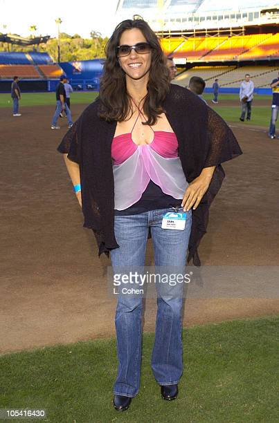Jami Gertz during CBS Stars Party at Dodger Stadium at Dodger Stadium in Los Angeles, California, United States.