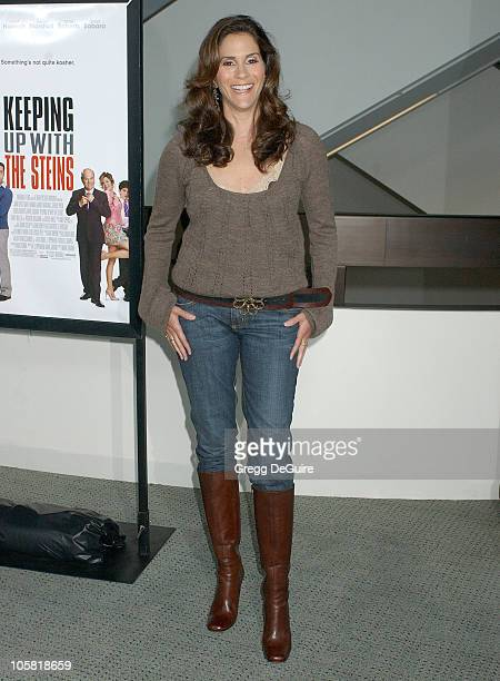Jami Gertz during Keeping Up With The Steins Los Angeles Premiere Arrivals at Pacific Design Center in West Hollywood California United States