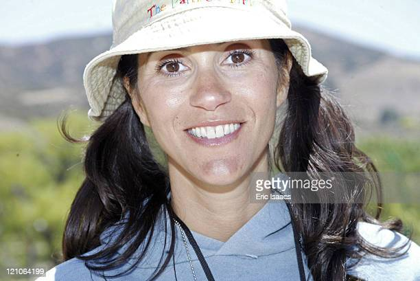 Jami Gertz during The Painted Turtle Summer Camp Dedication at Lake Hughes in Lake Hughes CA United States