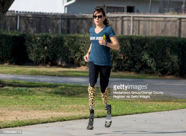 Jami Marseilles shown in running at a park near her Huntington Beach home on Tuesday Jan 2 which is the 30th anniversary of the day her and a friend...