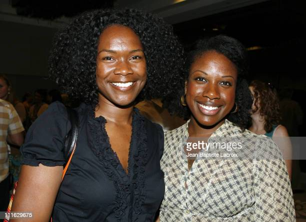 Jamiah Adams and Monique Taylor during 2007 Los Angeles Film Festival - Porch Party - Fellows at Hotel Sofitel in Los Angeles, California, United...