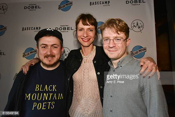 Jamie Adams Dolly Wells and Jon Rennie appear at a cocktail party at Basecamp in support of their film 'Black Mountain Poets' during SXSW on March 13...