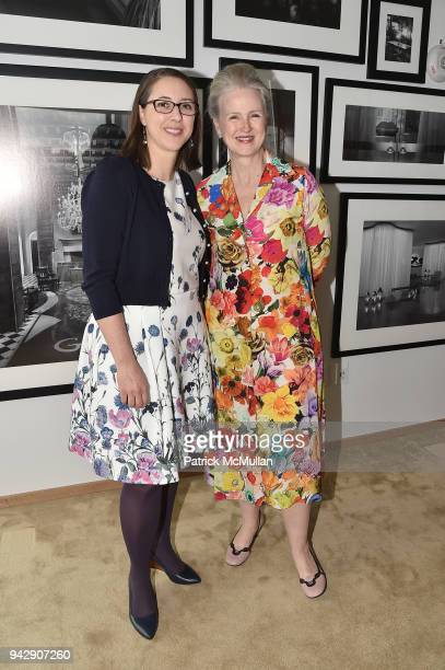 Jamie Allen and Sarah McNear attend the Spring Party to benefit Aperture and to celebrate The Photographer in the Garden at Public Hotel on April 6...