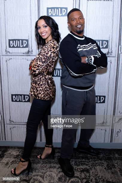 Jamie and Corinne Foxx visit AOL Build at Build Studio on May 15 2018 in New York City
