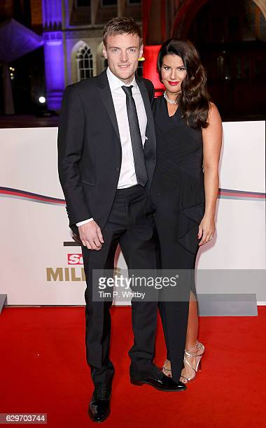 Jamie and Rebekah Vardy attend The Sun Military Awards at The Guildhall on December 14 2016 in London England