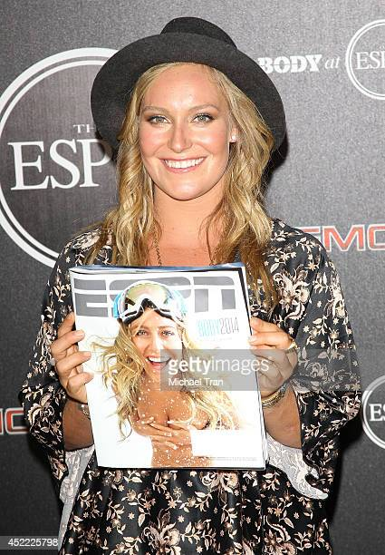Jamie Anderson arrives at the BODY at ESPYS PreParty held at Lure on July 15 2014 in Hollywood California