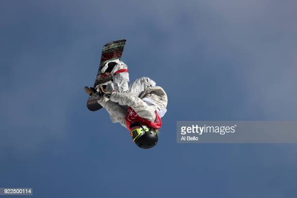 Jamie Anderson of the United States competes during the Snowboard Ladies' Big Air Final Run 2 on day 13 of the PyeongChang 2018 Winter Olympic Games...