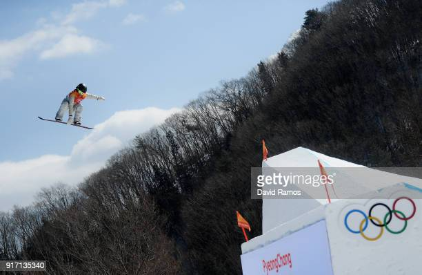 Jamie Anderson of the United States competes in the Snowboard Ladies' Slopestyle Final on day three of the PyeongChang 2018 Winter Olympic Games at...