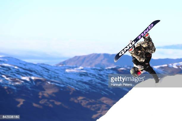 Jamie Anderson of USA competes during Winter Games NZ FIS Women's Snowboard World Cup Slopestyle Qualifying at Cardrona Alpine Resort on September 3...