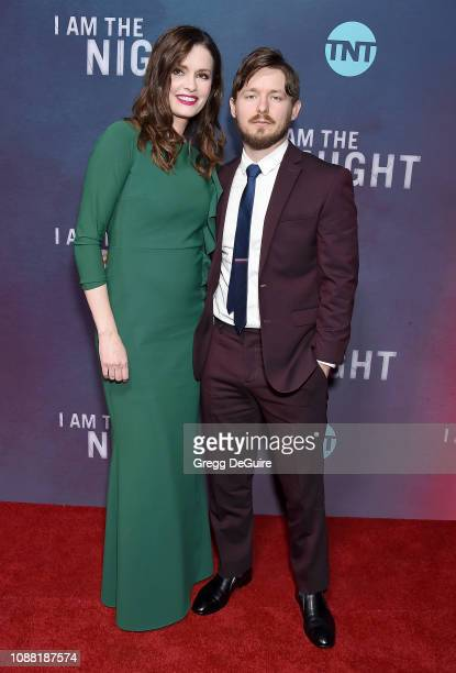 Jamie Anne Allman and Marshall Allman attend the Premiere Of TNT's I Am The Night at Harmony Gold on January 24 2019 in Los Angeles California