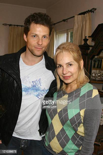 Jamie Bamber and Bianca Mead during The Exclusive Oscar Beauty Cafe, Charity and Gifting Suite - Day One at Private Estate in Los Angeles,...