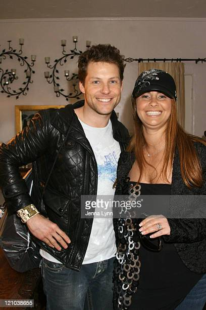 Jamie Bamber and Gracianne of Brazilian Explosion during The Exclusive Oscar Beauty Cafe, Charity and Gifting Suite - Day One at Private Estate in...