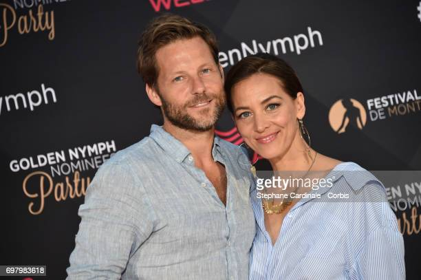 Jamie Bamber and his Wife Kerry Norton attend the Golden Nymph Nominees Party at the MonteCarlo Bay Hotel on June 19 2017 in MonteCarlo Monaco
