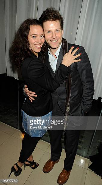 Jamie Bamber and Kerry Norton attend the Sass Bide party following their LFW catwalk show at Bungalow 8 on February 19 2010 in London England