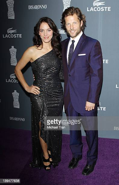 Jamie Bamber and wife, Kerry Norton arrive at the 14th Annual Costume Designers Guild Awards held at The Beverly Hilton Hotel on February 21, 2012 in...