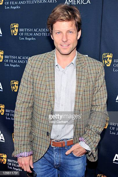 Jamie Bamber arrives for the 9th annual BAFTA tea party at L'Ermitage Beverly Hills Hotel on September 17, 2011 in Beverly Hills, California.