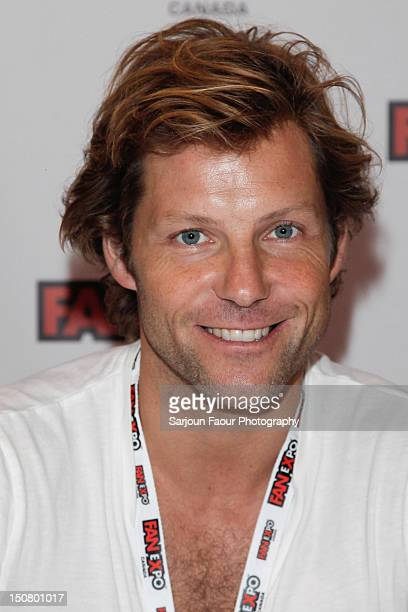 Jamie Bamber attends the 18th Annual Fan Expo Canada at Metro Toronto Convention Centre on August 25, 2012 in Toronto, Canada.