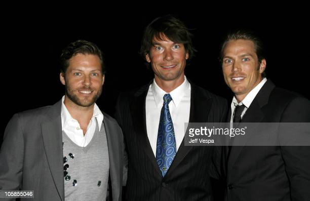 Jamie Bamber, Jerry O'Connell and Jason Lewis during 18th Annual GLAAD Media Awards - Los Angeles - Backstage at Kodak Theater in Los Angeles,...