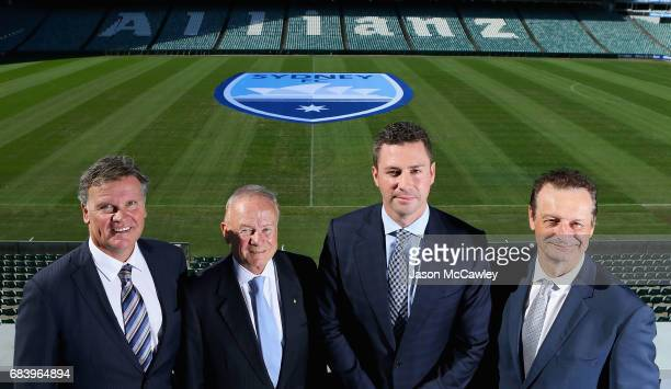 Jamie Barkley CEO of the Sydney Cricket Ground Trust Tony Shepherd Chairman of the Sydney Cricket Ground Trust Scott Barlow Sydney FC Chairman and...