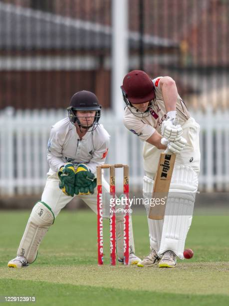 Jamie Bekis of the Gordon Cricket Club bats during day one of the NSW Premier Cricket first grade round 3 match between Western Suburbs and Gordon...
