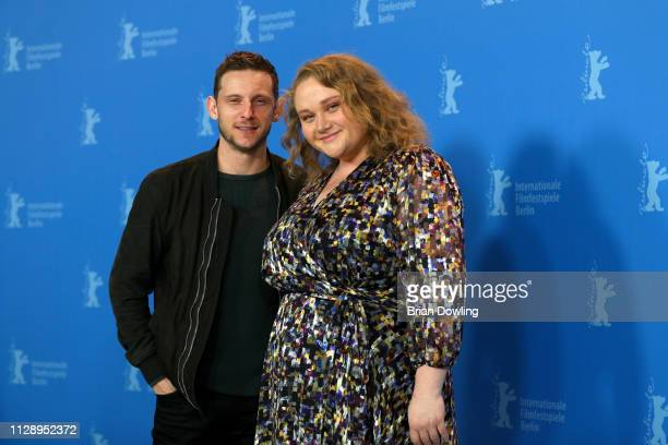 Jamie Bell and Danielle Macdonald pose at the Skin photocall during the 69th Berlinale International Film Festival Berlin at Grand Hyatt Hotel on...