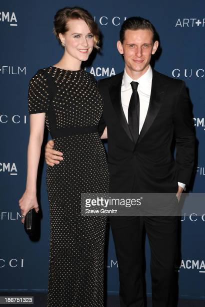 Jamie Bell and Evan Rachel Wood arrives at the LACMA 2013 Art + Film Gala at LACMA on November 2, 2013 in Los Angeles, California.