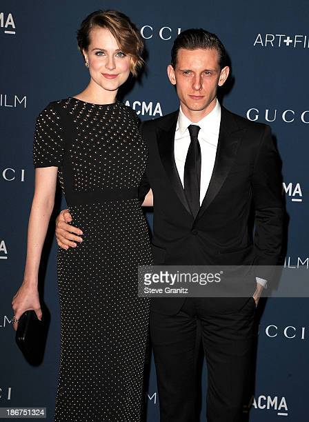 Jamie Bell and Evan Rachel Wood arrives at the LACMA 2013 Art Film Gala at LACMA on November 2 2013 in Los Angeles California