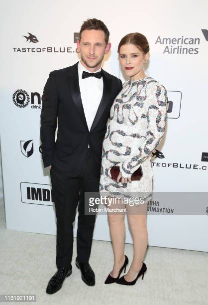 Jamie Bell and Kate Mara attend 27th Annual Elton John AIDS Foundation Academy Awards Viewing Party Celebrating EJAF And The 91st Academy Awards on...
