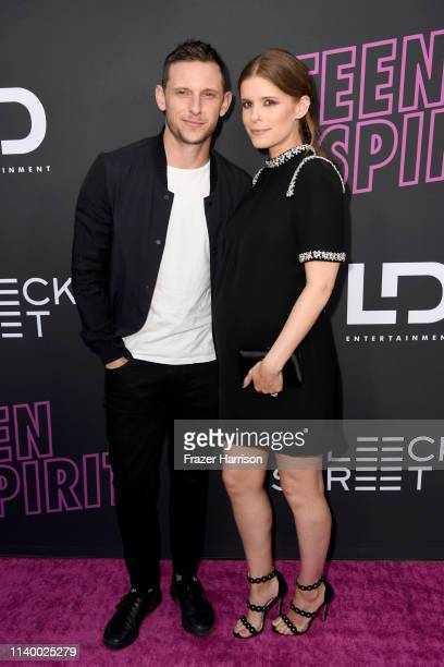 """Jamie Bell and Kate Mara attend a special screening of Bleecker Street's """"Teen Spirit"""" ArcLight Hollywood on April 02, 2019 in Hollywood, California."""