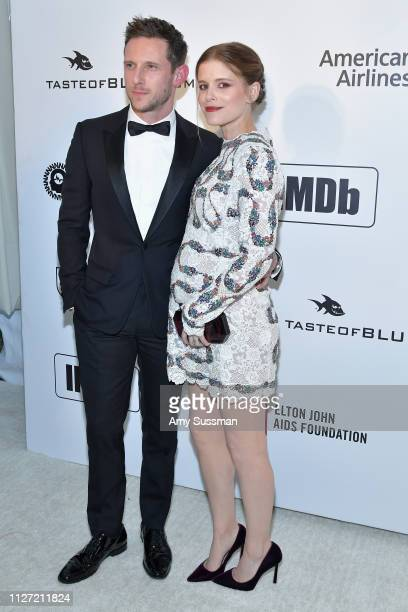 Jamie Bell and Kate Mara attend the 27th annual Elton John AIDS Foundation Academy Awards Viewing Party celebrating EJAF and the 91st Academy Awards...