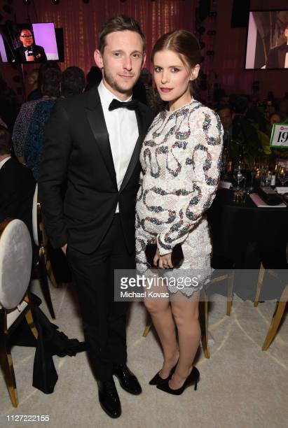 Jamie Bell and Kate Mara attend the 27th annual Elton John AIDS Foundation Academy Awards Viewing Party sponsored by IMDb and Neuro Drinks...
