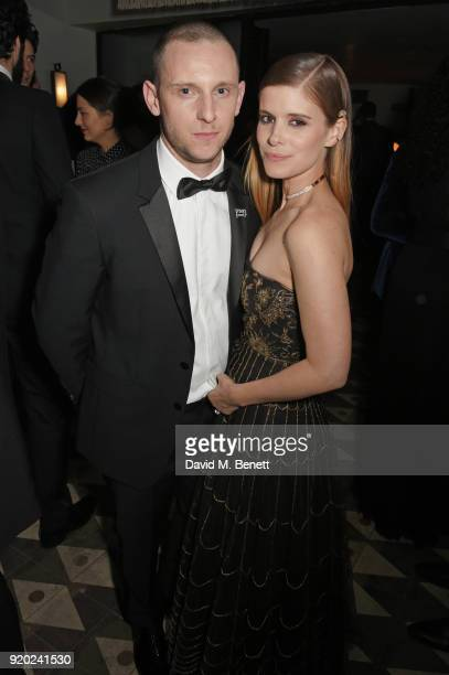 Jamie Bell and Kate Mara attend the Grey Goose 2018 BAFTA Awards after party on February 18 2018 in London England