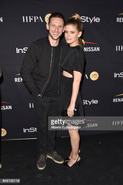 Jamie Bell and Kate Mara attend the HFPA InStyle annual celebration of 2017 Toronto International Film Festival at Windsor Arms Hotel on September 9...