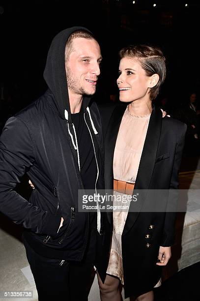Jamie Bell and Kate Mara attend the HM show as part of the Paris Fashion Week Womenswear Fall/Winter 2016/2017 on March 2 2016 in Paris France