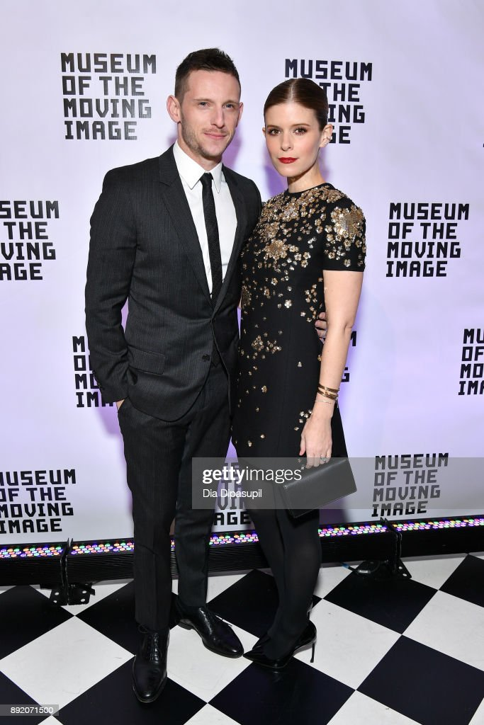 Jamie Bell (L) and Kate Mara attend the Museum of the Moving Image Salute to Annette Bening at 583 Park Avenue on December 13, 2017 in New York City.