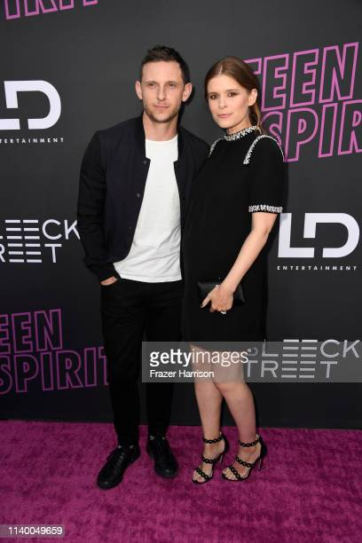 """Jamie Bell and Kate Mara attends a Special Screening of Bleecker Street Media's """"Teen Spirit""""at ArcLight Hollywood on April 02, 2019 in Hollywood,..."""