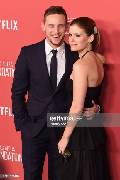 Jamie Bell and Kate Mara attends SAGAFTRA Foundation Patron of the Artists Awards 2017 Arrivals at Wallis Annenberg Center for the Performing Arts on...