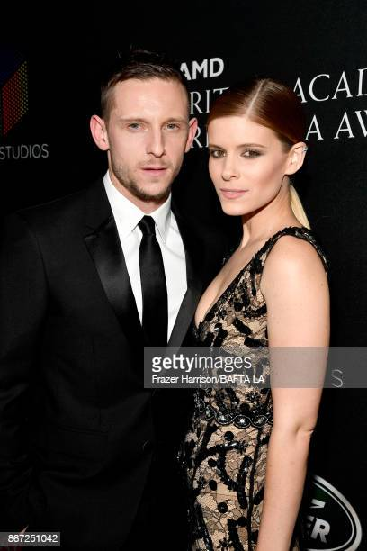 Jamie Bell and Kate Mara attends the 2017 AMD British Academy Britannia Awards Presented by American Airlines And Jaguar Land Rover at The Beverly...