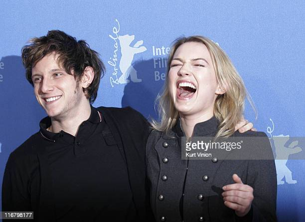 Jamie Bell and Sophia Myles during The 57th Berlin International Film Festival Hallam Foe Photocall at Grand Hyatt in Berlin Germany