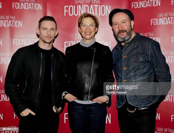 Jamie Bell Annette Bening and Paul McGuigan attend SAGAFTRA Foundation's conversation and screening of 'Film Stars Don't Die In Liverpool' at...