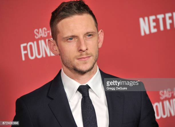 Jamie Bell arrives at the SAGAFTRA Foundation Patron of the Artists Awards 2017 on November 9 2017 in Beverly Hills California