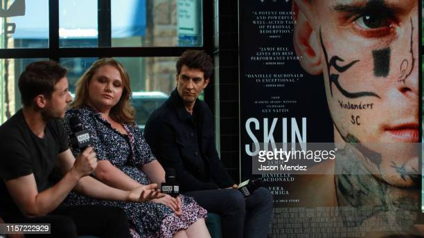 Jamie Bell Danielle Macdonald and Guy Nattiv at BUILD Studio on July 22 2019 in New York City