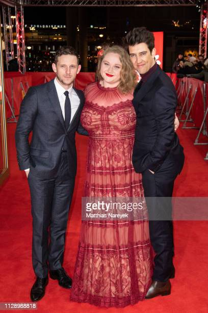 Jamie Bell Danielle Macdonald and Guy Nattiv attend the Skin premiere during the 69th Berlinale International Film Festival Berlin at Zoo Palast on...