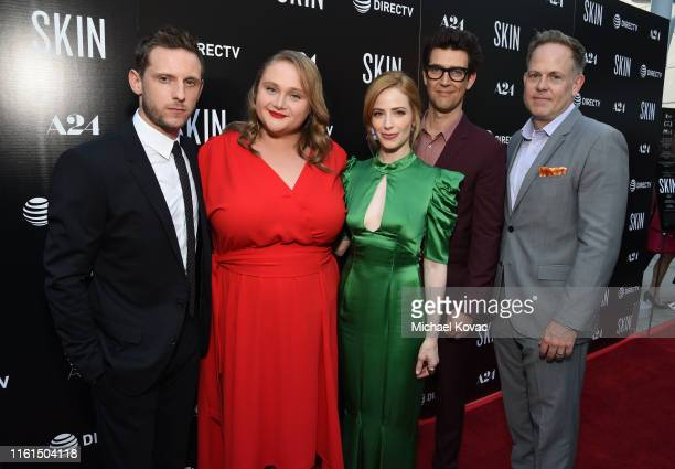 Jamie Bell Danielle Macdonald Jaime Ray Newman Guy Nettiv and ATT VP Video and Application Marketing Tim Gibson attend the Los Angeles Special...