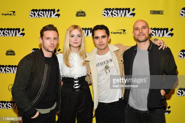 Jamie Bell Elle Fanning Max Minghella and Fred Berger attend the Teen Spirit Premiere 2019 SXSW Conference and Festivals at Paramount Theatre on...