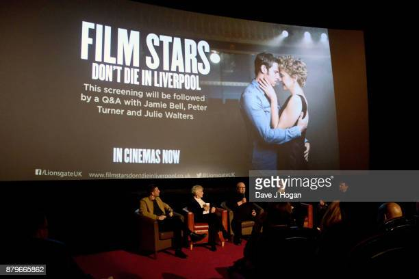 Jamie Bell Julie Walters author Peter Turner producer Colin Vaines and film critic James King attend the 'Film Stars Don't Die In Liverpool'...