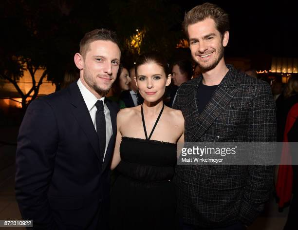 Jamie Bell Kate Mara and Andrew Garfield attend the SAGAFTRA Foundation Patron of the Artists Awards 2017 at the Wallis Annenberg Center for the...